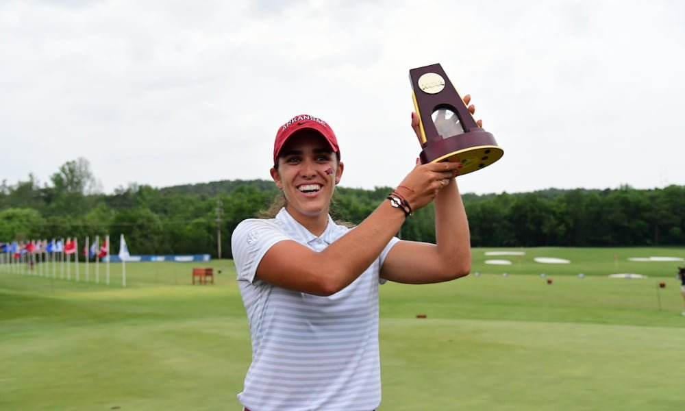 Golfer Maria Fassi proclaims champion of the NCAA