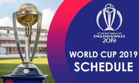 ICC Cricket World Cup 2019 SCHEDULE